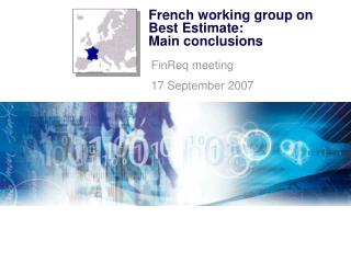 French working group on Best Estimate:  Main conclusions
