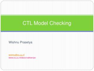 CTL Model Checking