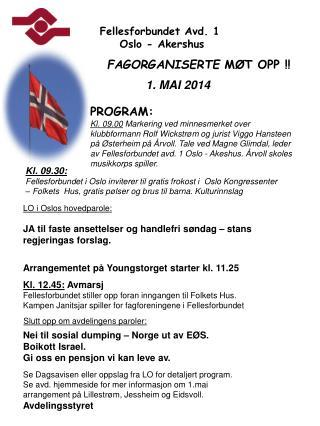 Fellesforbundet Avd. 1  Oslo - Akershus