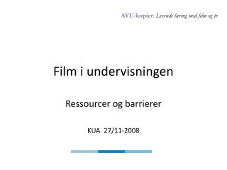 Film i undervisningen