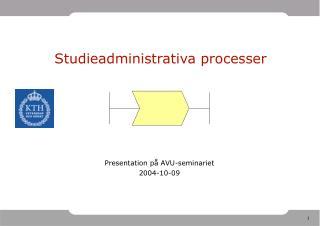 Studieadministrativa processer