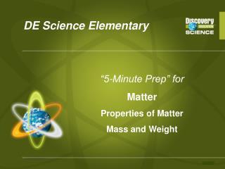 DE Science Elementary