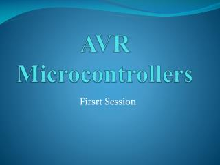 AVR Microcontrollers