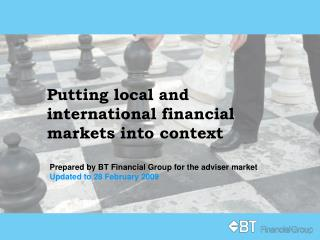 Putting local and international financial markets into context