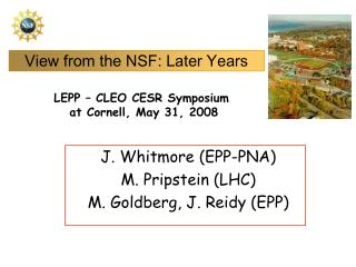 View from the NSF: Later Years