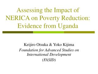 Assessing the Impact of NERICA on Poverty Reduction: Evidence from Uganda