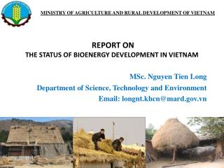 MINISTRY OF AGRICULTURE AND RURAL DEVELOPMENT OF VIETNAM