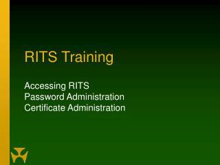 RITS Training