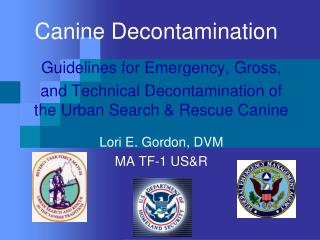Canine Decontamination
