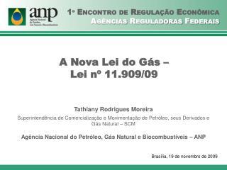 A Nova Lei do Gás –  Lei nº 11.909/09