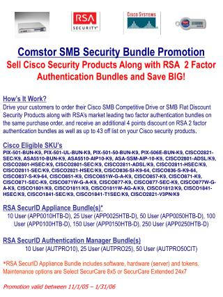 Comstor SMB Security Bundle Promotion