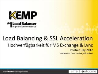 Load Balancing & SSL Acceleration Hochverfügbarkeit für MS Exchange & Lync InfoNet Day 2012