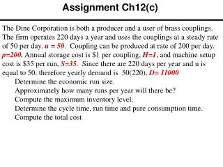 Assignment Ch12(c)
