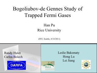 Bogoliubov-de Gennes Study of Trapped Fermi Gases