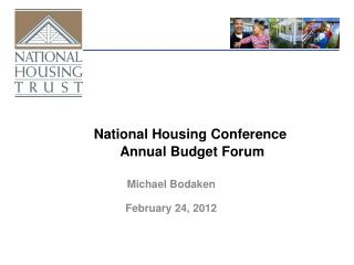 National Housing Conference  Annual Budget Forum