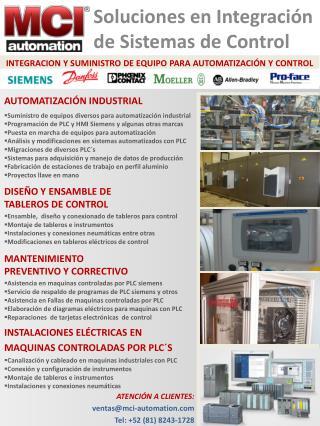 INSTALACIONES  ELÉCTRICAS EN  MAQUINAS CONTROLADAS POR PLC´S