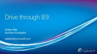 Drive through IE9