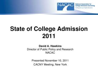 State of College Admission 2011