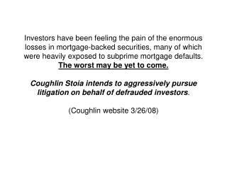 Northwest Chapter Subprime Crisis Panel 5 Slides April 22, 2008