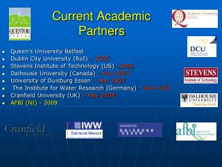 Current Academic  Partners