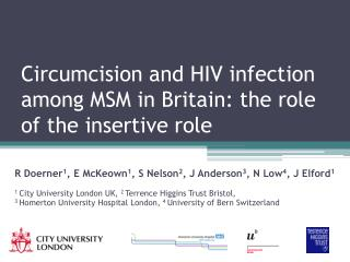 Circumcision and HIV infection among MSM in Britain: the role of the insertive role