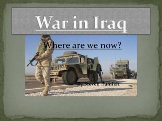 War  i n Iraq