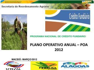PLANO OPERATIVO  ANUAL – POA 2012