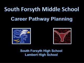 South Forsyth Middle  School Career Pathway Planning