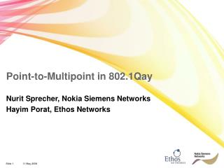 Point-to-Multipoint in 802.1Qay