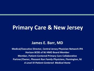Primary Care & New Jersey