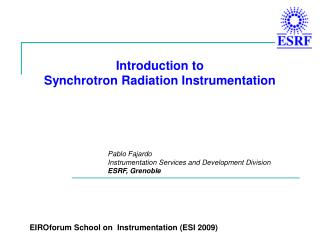 Introduction to Synchrotron Radiation Instrumentation