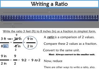 Writing a Ratio