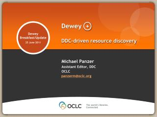 Dewey  + DDC-driven resource discovery