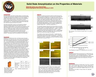 Solid State Amorphization on the Properties of Materials