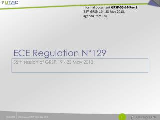 ECE Regulation N°129