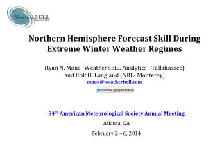 94 th  American Meteorological Society Annual Meeting