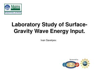 Laboratory Study of Surface-Gravity Wave Energy Input.