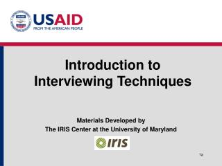 Introduction to  Interviewing Techniques