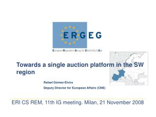 Towards a single auction platform in the SW region