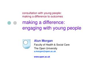 making a difference: engaging with young people