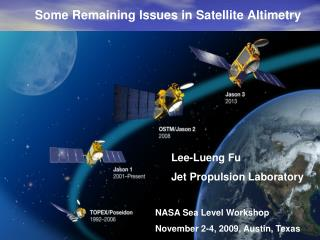 Some Remaining Issues in Satellite Altimetry