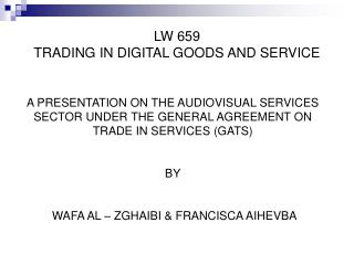 LW 659 TRADING IN DIGITAL GOODS AND SERVICE