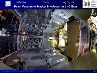Beam Vacuum to Tracker Interfaces for LHC  Exps .