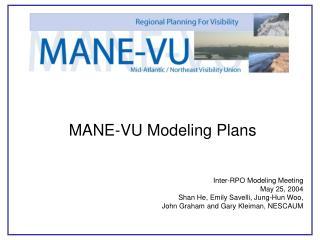 MANE-VU Modeling Plans