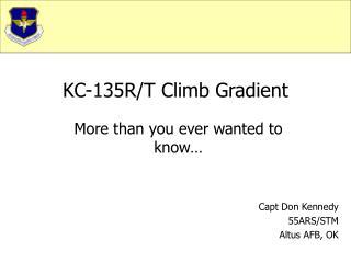 KC-135R/T Climb Gradient
