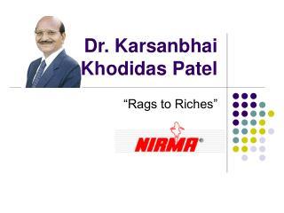 Dr. Karsanbhai Khodidas Patel