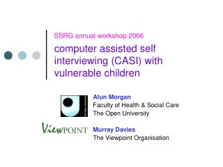 computer assisted self interviewing (CASI) with vulnerable children