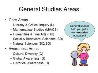 General Studies Areas