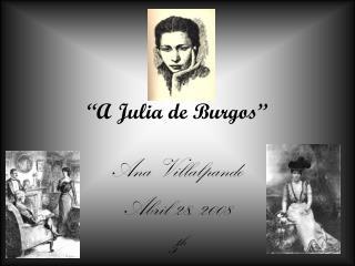 �A Julia de Burgos�