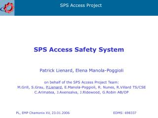 SPS Access Safety System
